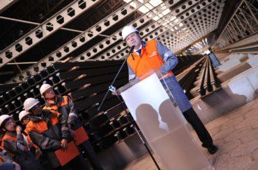 ArcelorMittal – otwarcie nowej inwestycji – pokaz laserowy